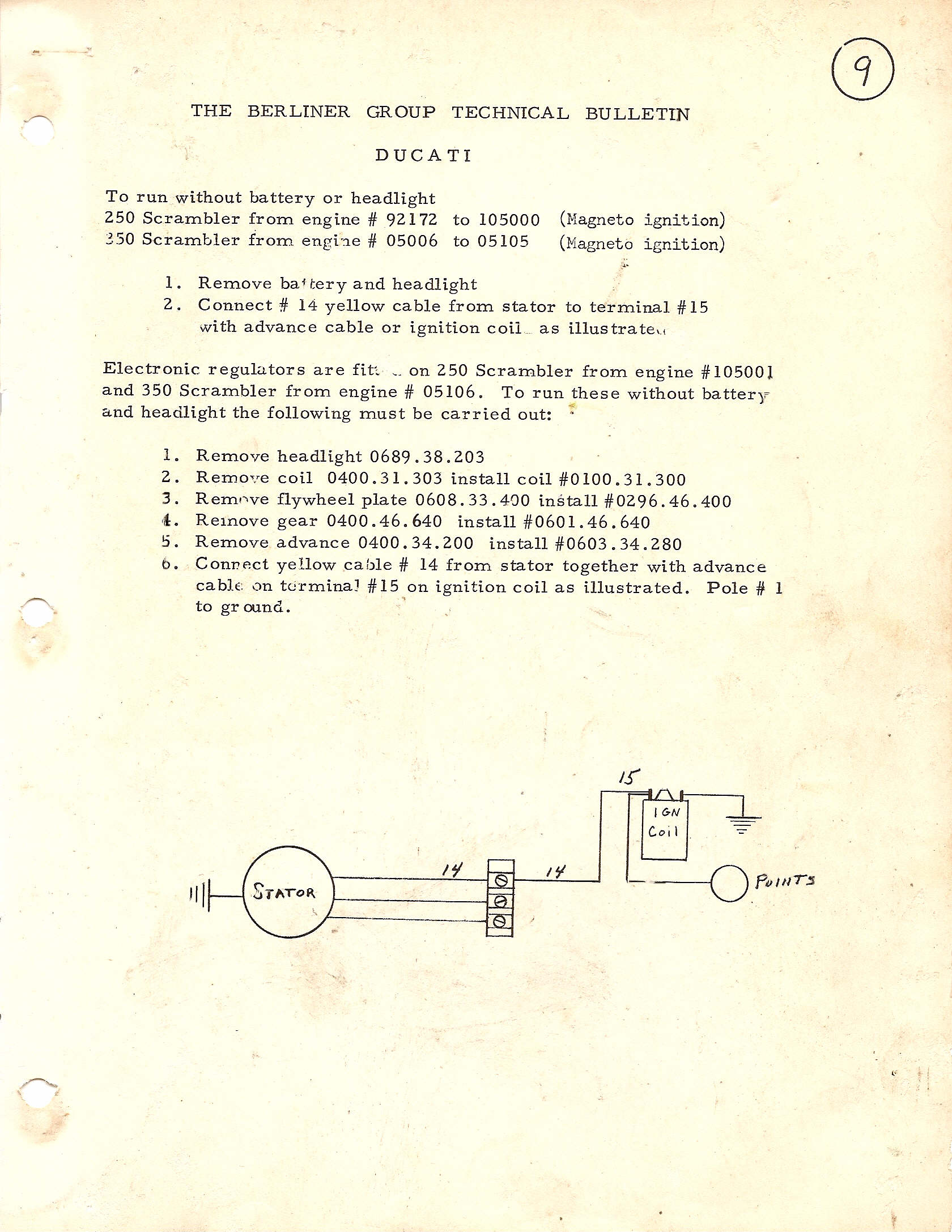 Ducati 350cc Electronic Ignition Wiring Diagram  Electronic
